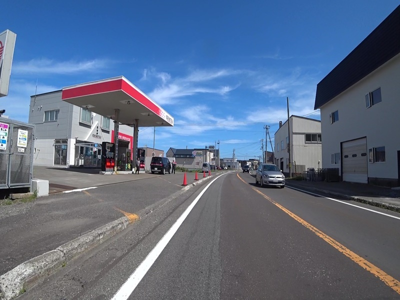 日本最北端ガソリンスタンド