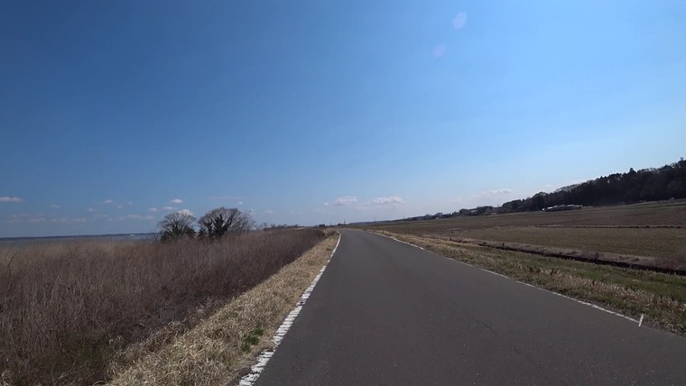 天気が良くてい気持ちよく走れます。