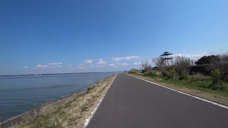 大須賀津農村公園に展望台があるので立ち寄ります