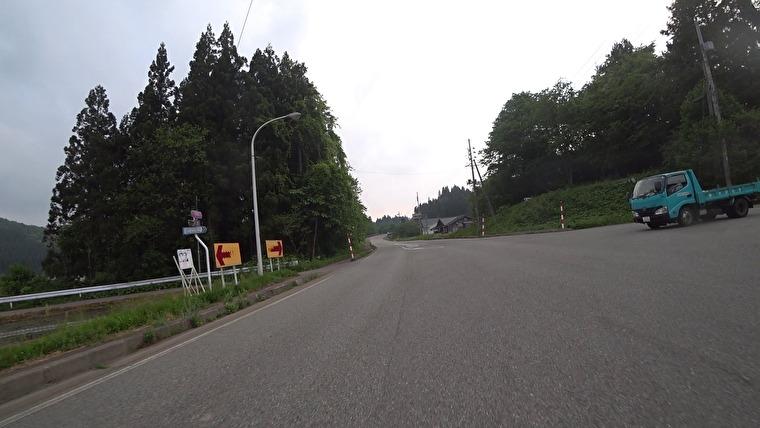 国道105号→秋田県道315号(出羽グリーンロード)へ