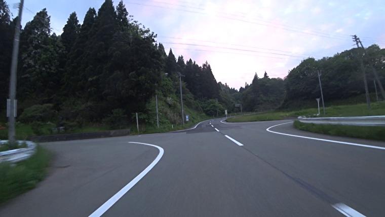 秋田県道319号→秋田県道326号へ