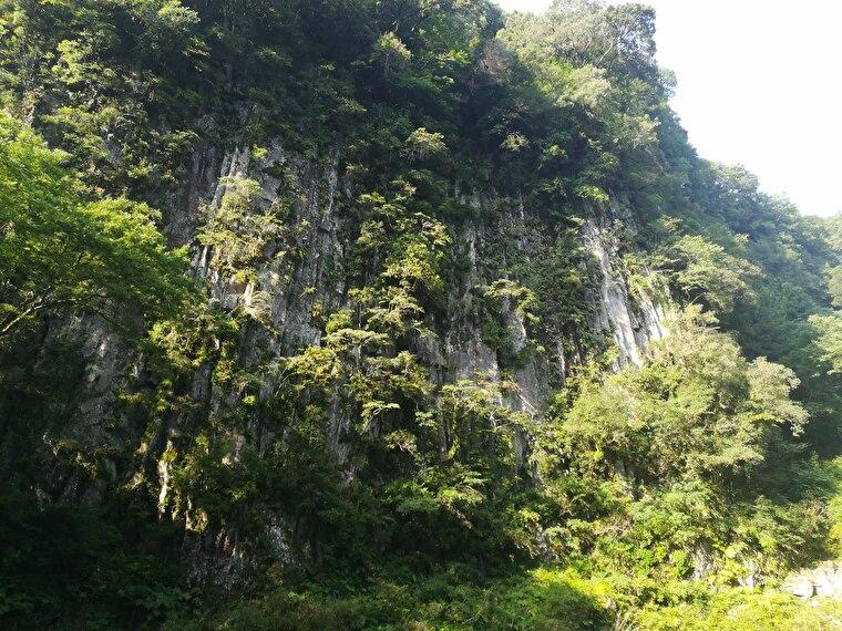 仙人の屏風岩 切り立った柱状節理が圧倒的。すごいスケール