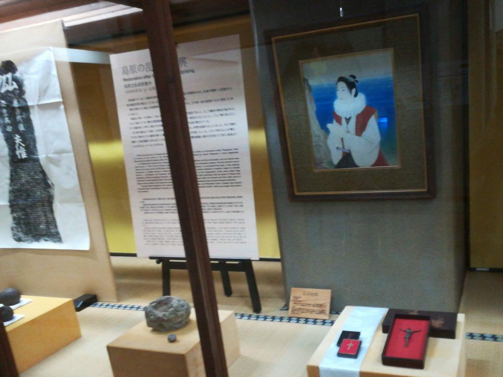 キリシタンゆかりの島原城 サビエルや天草四郎の展示があります